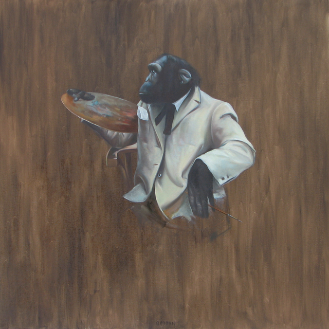 , 'Monkey with a palette,' 2014, Galerie Sandhofer