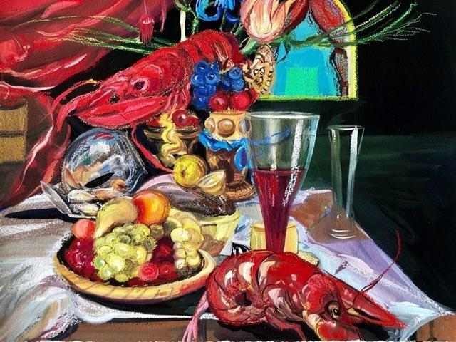 , 'Still Life with Lobster (Grimm Ballet),' 2019, Rhona Hoffman Gallery