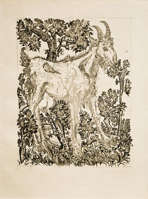 Pablo Picasso, 'La Chèvre  (The Goat)', 1936, Print, Sugarlift aquatint, drypoint, and scraper, John Szoke