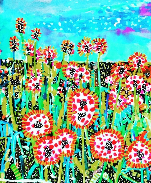 Andee Axe, 'In Bloom', 2020, Painting, Acrylic, canvas,  glitter, resin, The Illustrated Gallery