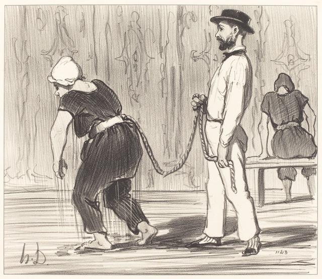 Honoré Daumier, 'Madame Rabourdeau a sa première leçon', 1847, National Gallery of Art, Washington, D.C.
