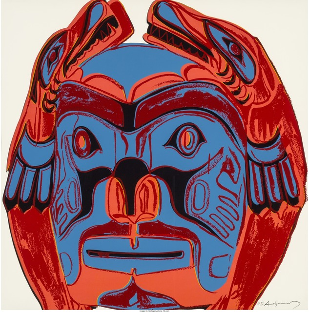 Andy Warhol, 'Northwest Coast Mask, from the Cowboys and Indians series', 1986, Print, Screenprint in colors on Lenox Museum Board, Heritage Auctions