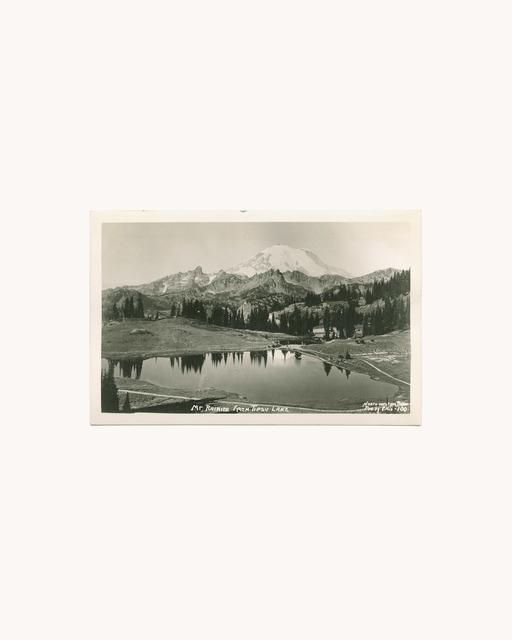 Peter Funch, 'Mt. Rainier and Lake Tipsoo, original postcard', 2015, V1 Gallery