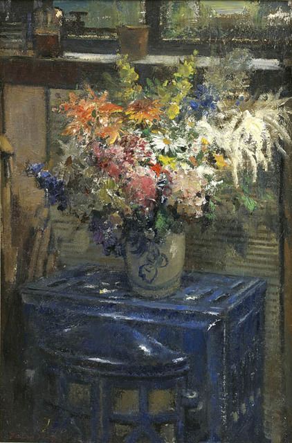 , 'Flowers on a Blue Stove,' , Portland Gallery
