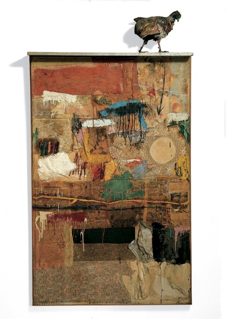 Robert Rauschenberg, 'Satellite', 1955, Combine: oil, fabric, paper, and wood on canvas with stuffed pheasant, Robert Rauschenberg Foundation
