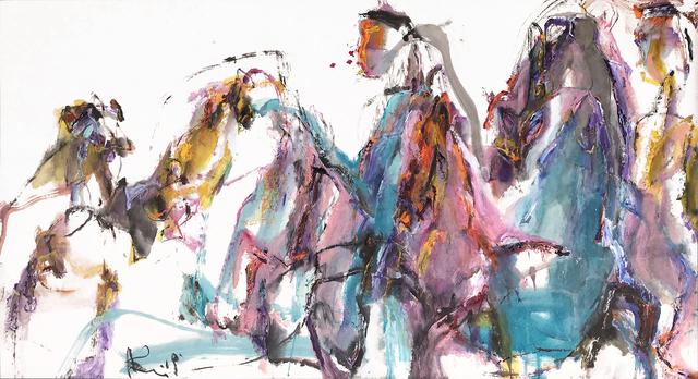 Andrew Lui, 'La Primavera II', 2019, Painting, Acrylic & ink on rice paper, mounted on board, Han Art