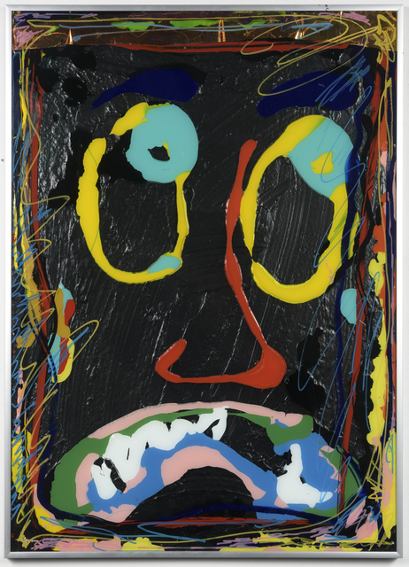 """, 'Ikea abstractions/portraiture (in this case portraiture) #90 """"Me while I look at a Jasper Johns painting"""",' 2016, Richard Heller Gallery"""