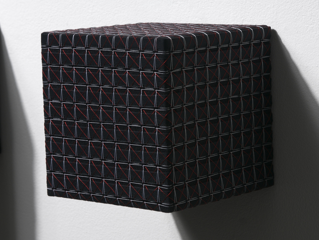 Denise Yaghmourian, 'Black Cube w/ Red and White X and Square', 2007, Bentley Gallery