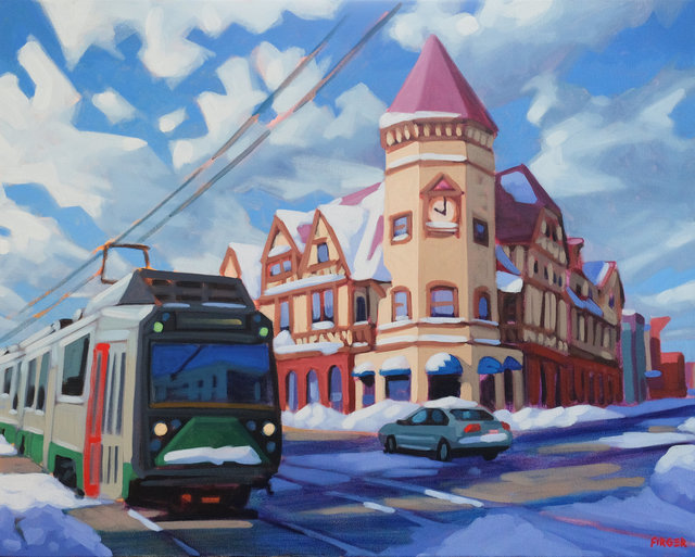 , 'Winter Sunrise (Coolidge Corner),' ca. 2019, Copley Society of Art