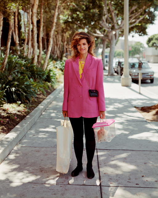 , 'A Woman Out Shopping with Her Pet Rabbit, Santa Monica, California, August 1988,' 1988, Buchmann Galerie