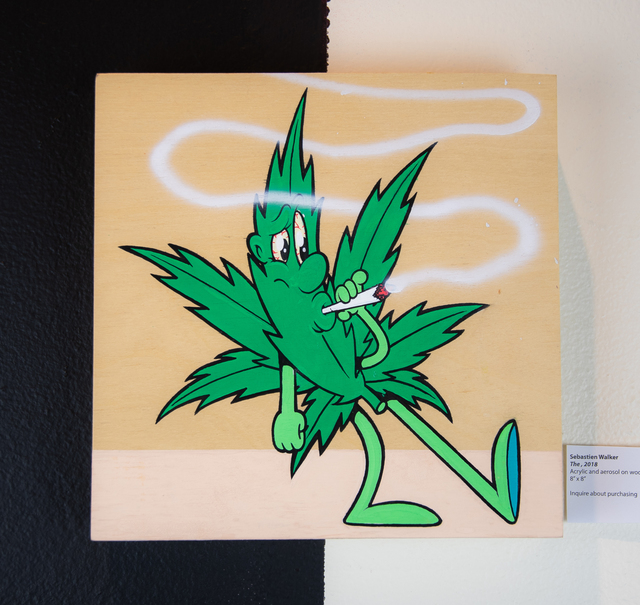 , 'Weed Leaf (1),' 2018, EWKUKS
