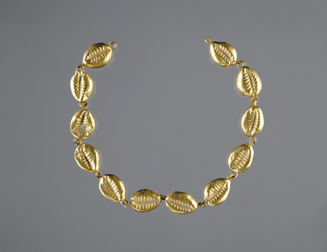 'Gold Beads in the Shape of Cowrie Shells', 220 -100 BCE, J. Paul Getty Museum