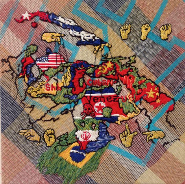 , 'Venezuelan Map (Desabastecimiento),' 2014, Linare/Brecht Gallery