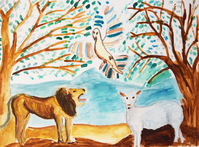 , 'The Lion, the Lamb, and the Landscape,' 2017, Fountain House Gallery