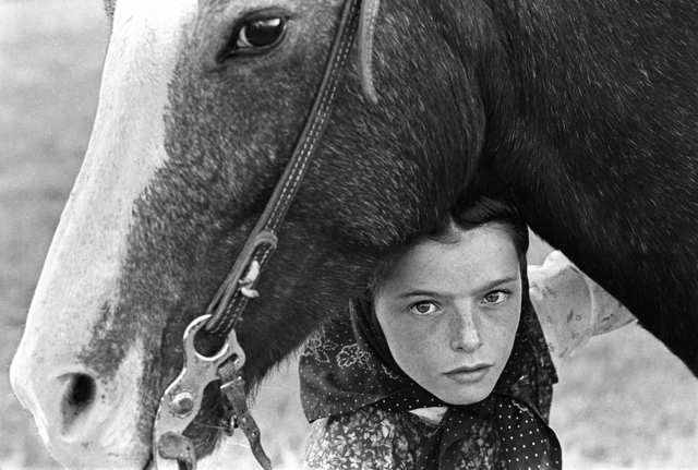 , 'Hutterite Girl With Her Horse, Chattahoochee ,' , Gail Severn Gallery