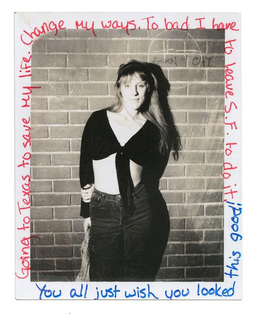 Jim Goldberg, 'Jeanette', 1988, Photography, Internal dye-diffusion transfer print (vintage), Casemore Kirkeby