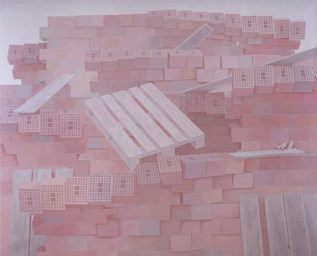 Dragan Bibin, 'Raft of Medusa, EURO Pallet', 2020, Painting, Oil on linen, Laufer