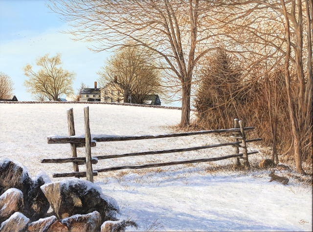 , 'Winter Homestead,' 2019, The Galleries at Salmagundi