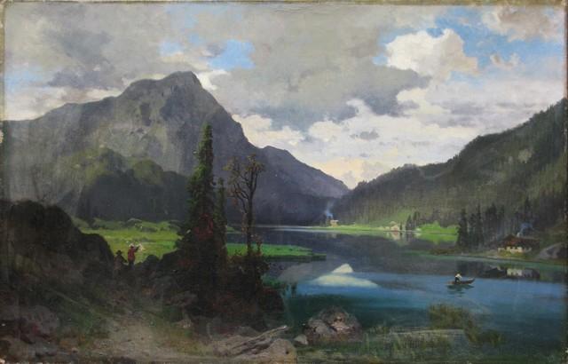 , 'Paisaje,' 1890, Oscar Roman