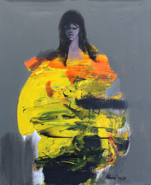 Khalid El-Khani, 'Lady in Yellow', 2018, Orient Gallery
