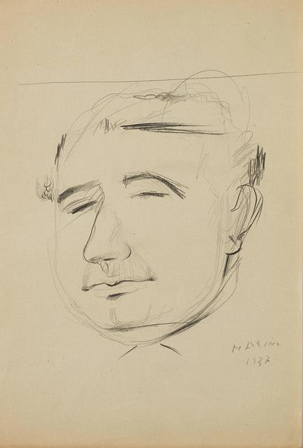 Marino Marini, 'Autoritratto su carta', 1937, Finarte