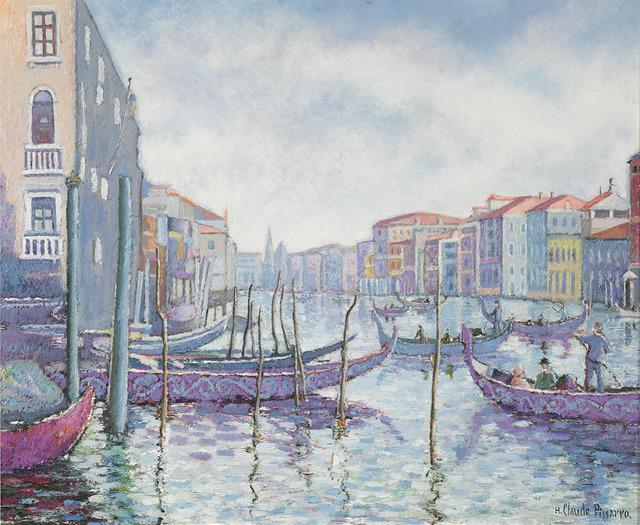 Hugues Claude Pissarro, 'Matin Gris au Quai des Gondoles', 21st Century,  M.S. Rau Antiques