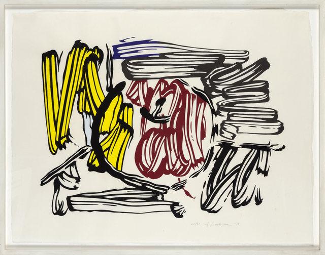 Roy Lichtenstein, 'Red & Yellow Apple', 1983, Print, Woodcut on handmade Iwano Kizuki Hosho paper, Fine Art Mia