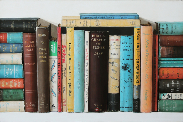 , 'Fishing Books,' 2018, Clark Gallery