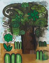 Carroll Dunham, 'Green Flowers (5),' 2010, Phillips: 20th Century and Contemporary Art Day Sale (November 2016)