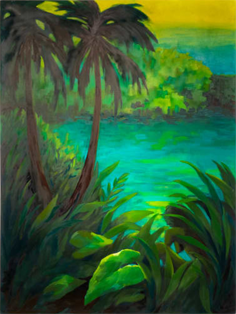 Adrienne Elise Tarver, 'Untitled (Tropical Landscape)', 2020, Painting, Oil on canvas, Deep Space Gallery