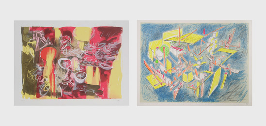 Roberto Matta, 'L'eau est mana and Octravi (Homo Flux) (two works),' 1974-1975, Heritage Auctions: Holiday Prints & Multiples Sale