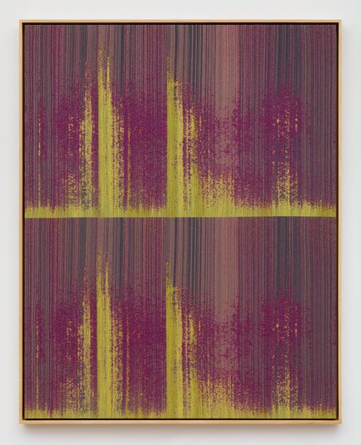 Mika Tajima, 'Negative Entropy (Digital Ocean, NYC3, Server Rack Installation Technicians, Two-Tone, Magenta, Double)', 2019, Kayne Griffin Corcoran