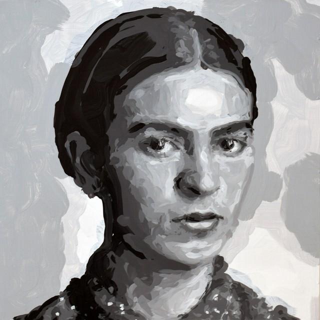 , 'Frida Kahlo Robot Painting, Painting time: 10:19:30 Stroke count: 3,395 2-4 November 2019,' 2019, Ben Brown Fine Arts