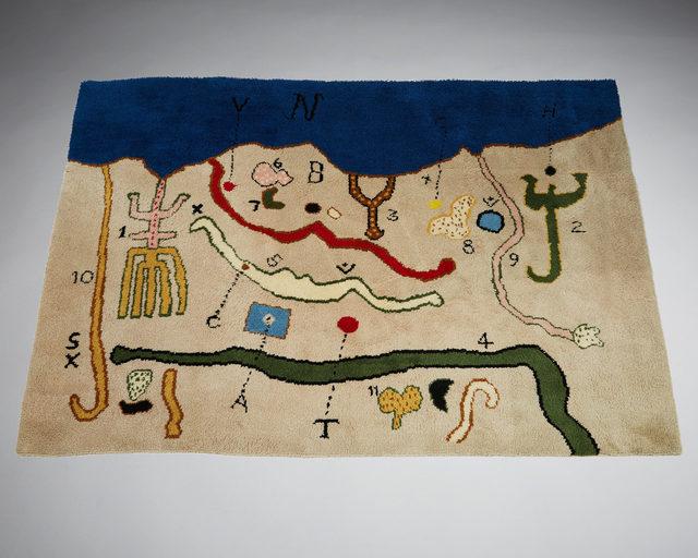 "Alan Davie, 'Tapestry ""Map""', 1967, Modernity"