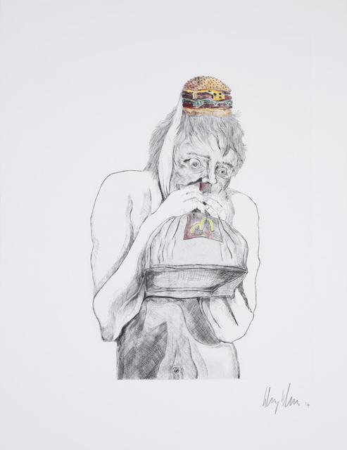 Henry Hudson, 'Man devouring Big Mac (1)', 2014, Human Reproduction