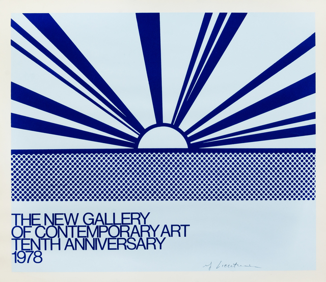 Roy Lichtenstein, 'The New Gallery of Contemporary Art', 1978, Print, Color offset lithograph, Hindman