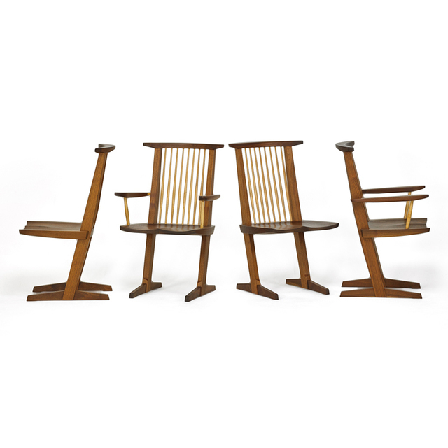 Mira Nakashima, 'Four Conoid Chairs, Two Arm, Two Side, New Hope, PA', 2000, Rago/Wright