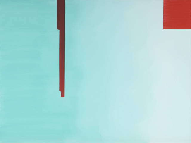 , 'In Absentia (Pale Aqua - Scarlet Red),' 2016, Division Gallery