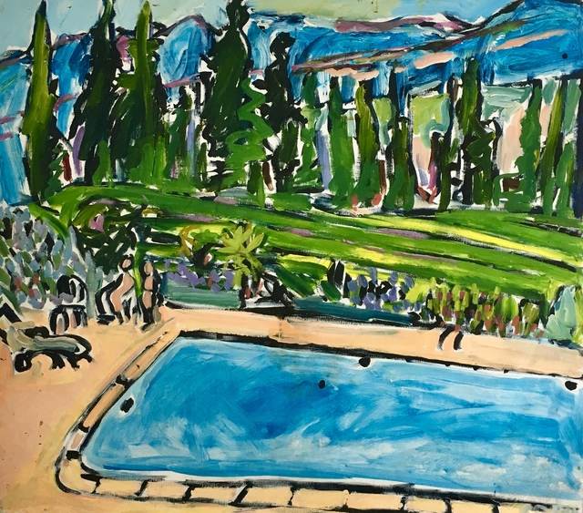 , 'Swimming at Domaine des Anges ,' 1997, Maison Depoivre