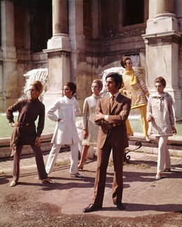 , 'Valentino posing with models nearby Trevi Fountain. Rome,' 1967, Victoria and Albert Museum (V&A)