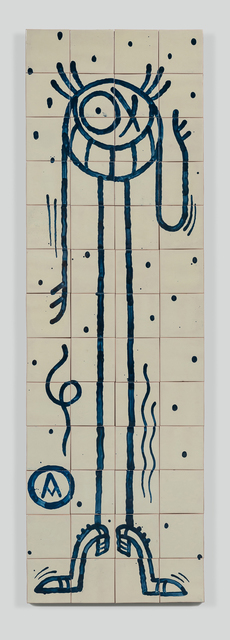 André Saraiva, 'Standing Mr. A 2', 2018, Mixed Media, Hand-painted tiles, Underdogs Gallery