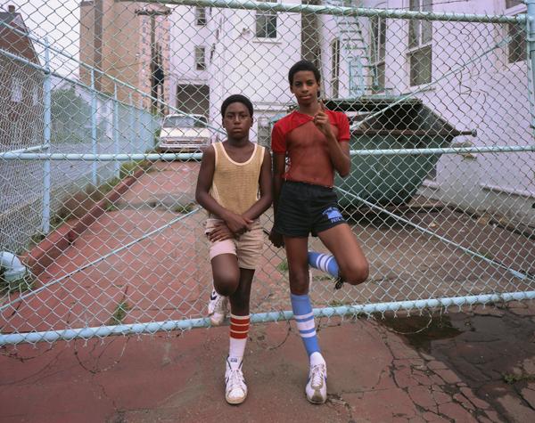 Joe Maloney, 'Blue Fence, Asbury Park, New Jersey', 1980, Rick Wester Fine Art