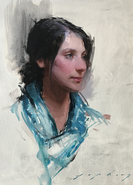 , 'Woman in the Blue Scarf,' , Vanessa Rothe Fine Art