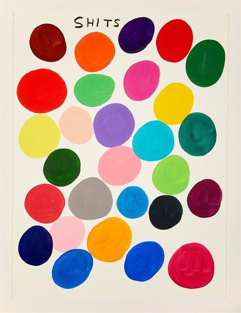 David Shrigley, 'Shits (Framed)', 2019, Hang-Up Gallery