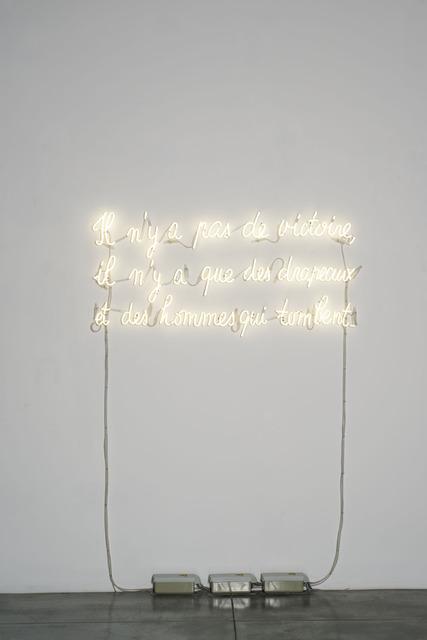 , 'Il n'y a pas de victoire, … from Les Carabiniers (1963),' 2014, Albert Baronian