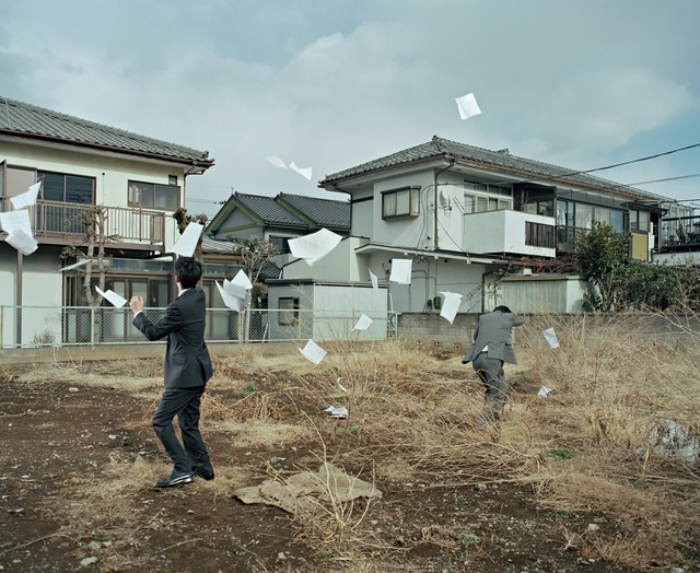 , 'A Sudden Gust of Wind (after Jeff Wall and Hokusai), from Two Kinds of Memory and Memory Itself,' 2015, IBASHO