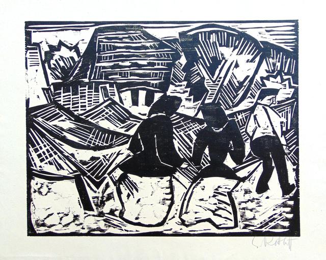 , 'By the Nets   Bei den Netzen,' 1914, Gilden's Art Gallery