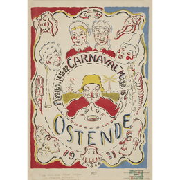 Affiche Pour Le Carnaval D'Ostende