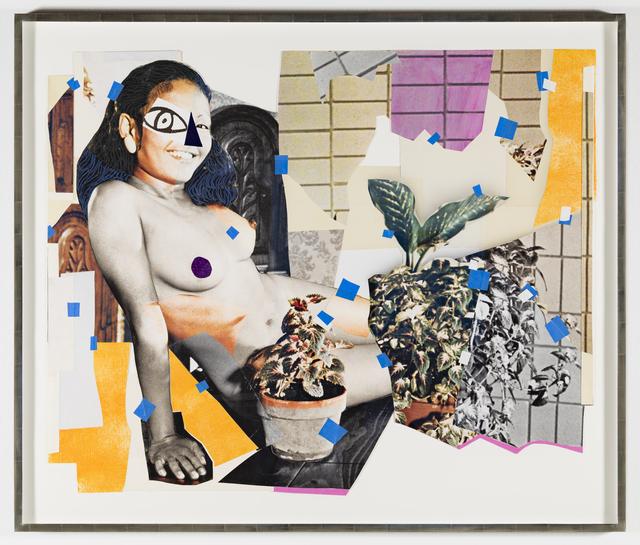 Mickalene Thomas, 'Jet Blue #4', 2018, Goodman Gallery