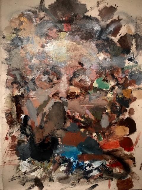 Julien Trésor Kandolo (KANDO), 'Temoignage', 2019, Painting, Mixed Media on Canvas, Gugsa Black Arts Collective